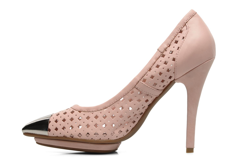 Zapatos de tacón Jeffrey Campbell Bullet PNC Rosa vista de frente