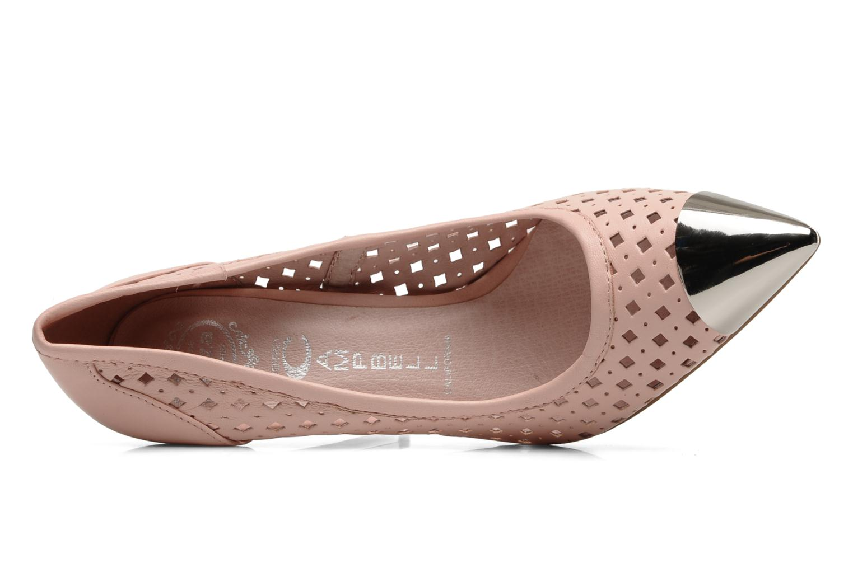 Zapatos de tacón Jeffrey Campbell Bullet PNC Rosa vista lateral izquierda