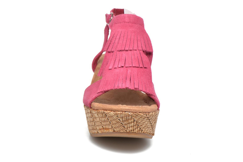 Sandales et nu-pieds Minnetonka Central Rose vue portées chaussures