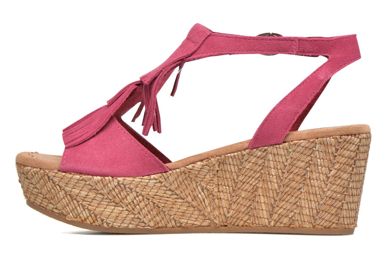 Sandales et nu-pieds Minnetonka Central Rose vue face
