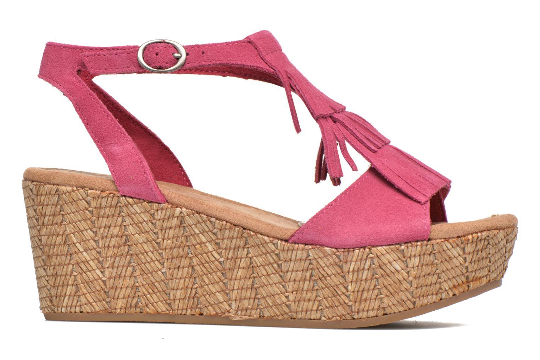 Sandalen Minnetonka Central rosa ansicht von hinten