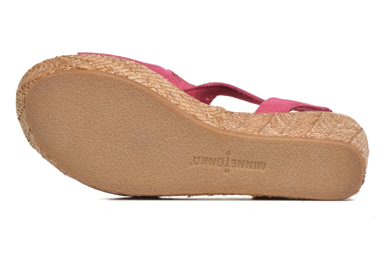 Sandales et nu-pieds Minnetonka Central Rose vue haut