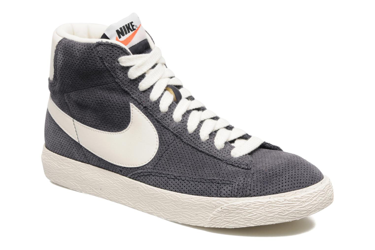 Trainers Nike Blazer Mid Prm Vintage Suede Grey detailed view/ Pair view