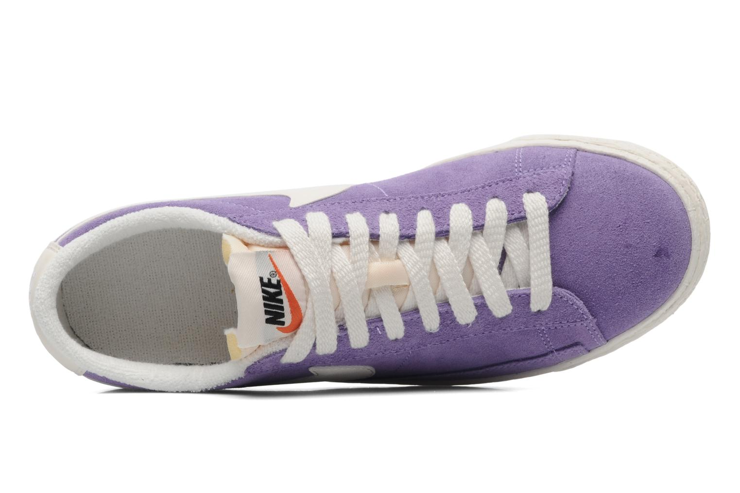 Trainers Nike Wmns Blazer Low Suede Vintage Purple view from the left