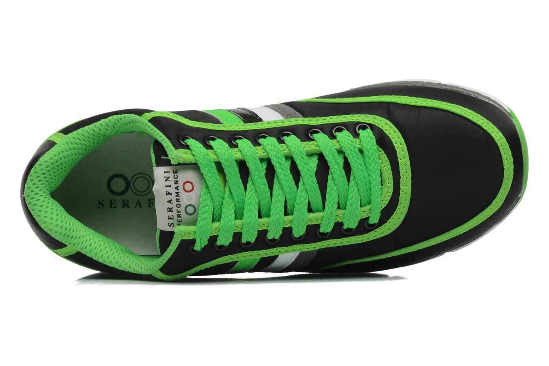 Baskets Serafini Neon 740 Noir vue gauche