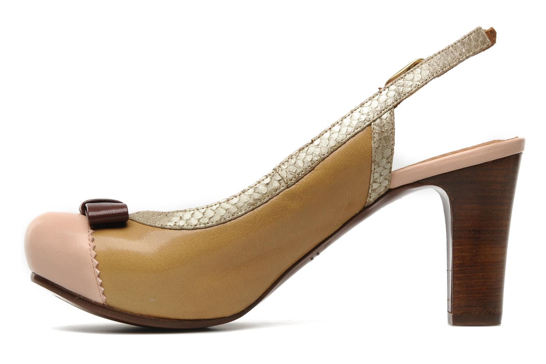 Zapatos de tacón Chie Mihara Becky Beige vista de frente