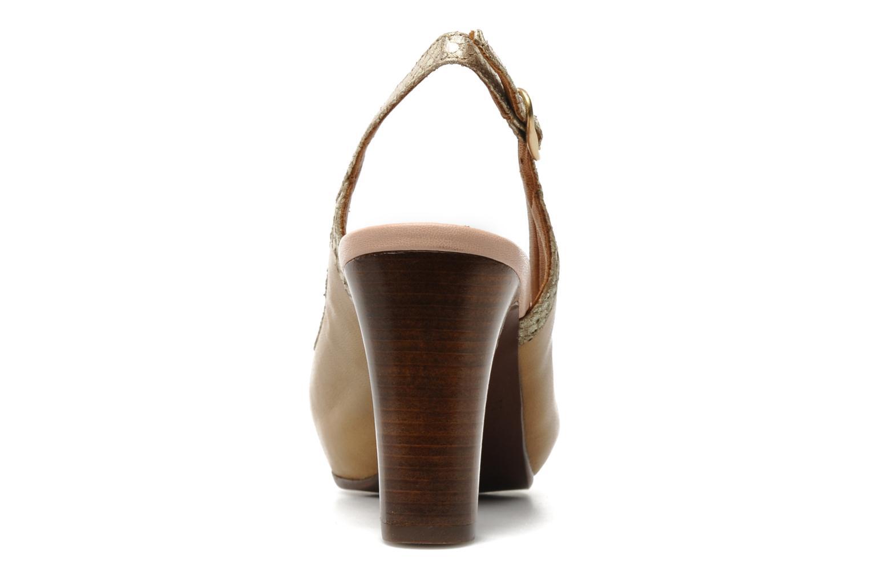 Zapatos de tacón Chie Mihara Becky Beige vista lateral derecha