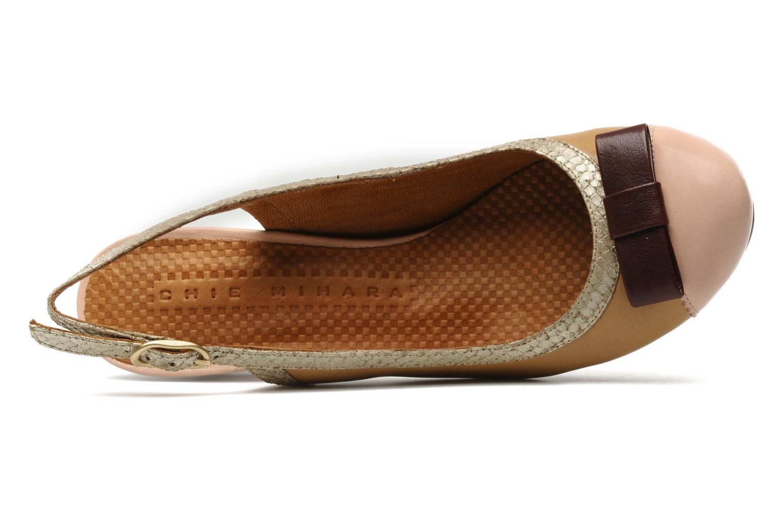 Zapatos de tacón Chie Mihara Becky Beige vista lateral izquierda