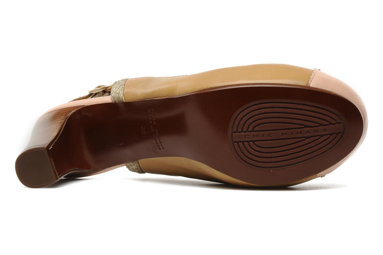 Zapatos de tacón Chie Mihara Becky Beige vista de arriba
