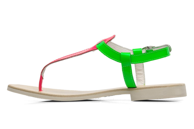 Sandalen Ninette en fleurs 7030 grün ansicht von vorne