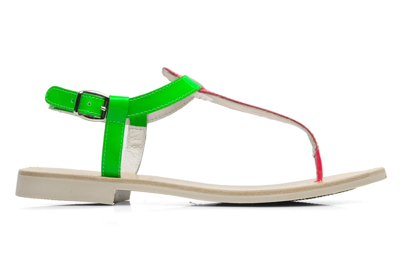 Sandalen Ninette en fleurs 7030 grün ansicht von hinten