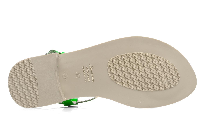 Sandalen Ninette en fleurs 7030 grün ansicht von oben