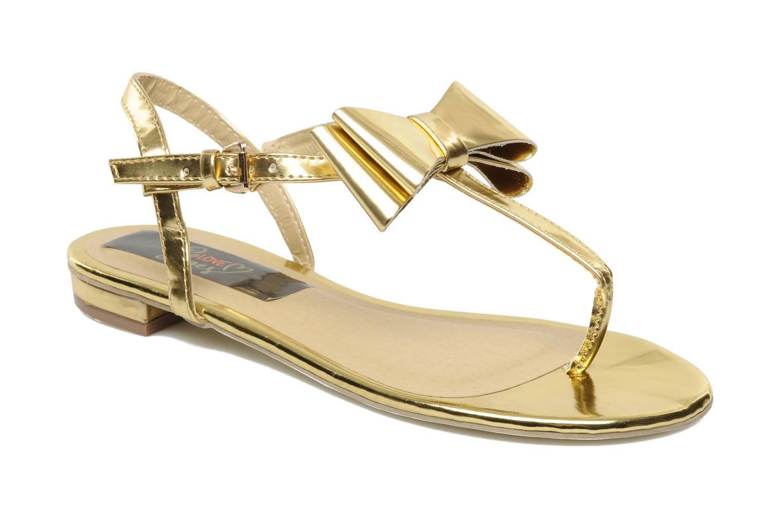 Sandalen I Love Shoes Pholala Goud en brons detail