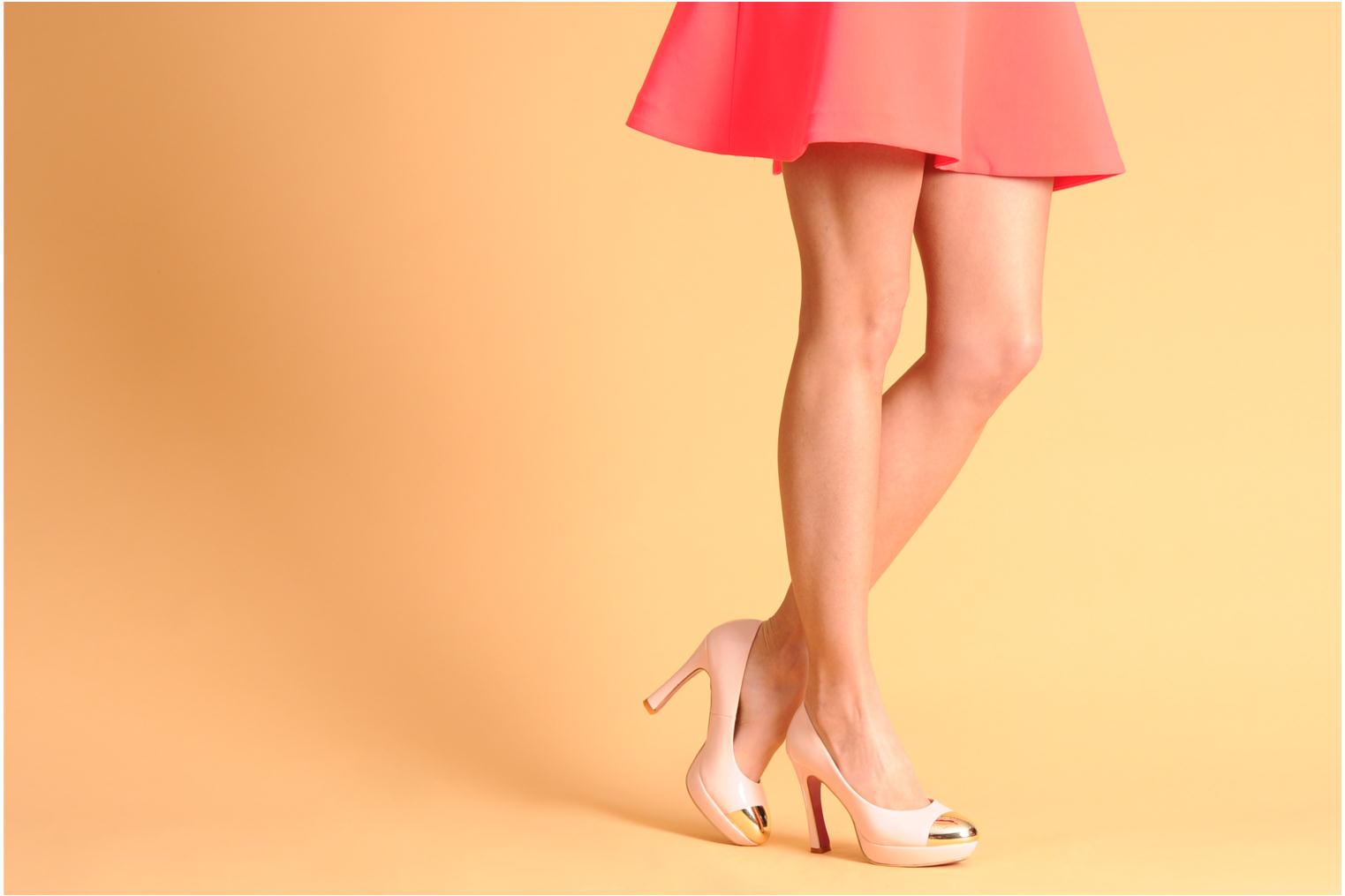 High heels I Love Shoes Phofolle Pink view from underneath / model view