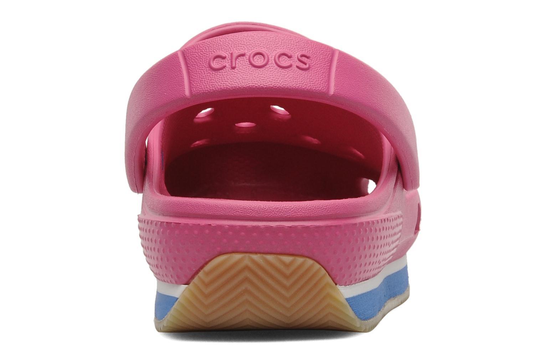 Sandales et nu-pieds Crocs Cros Retro Clog Kids Rose vue droite