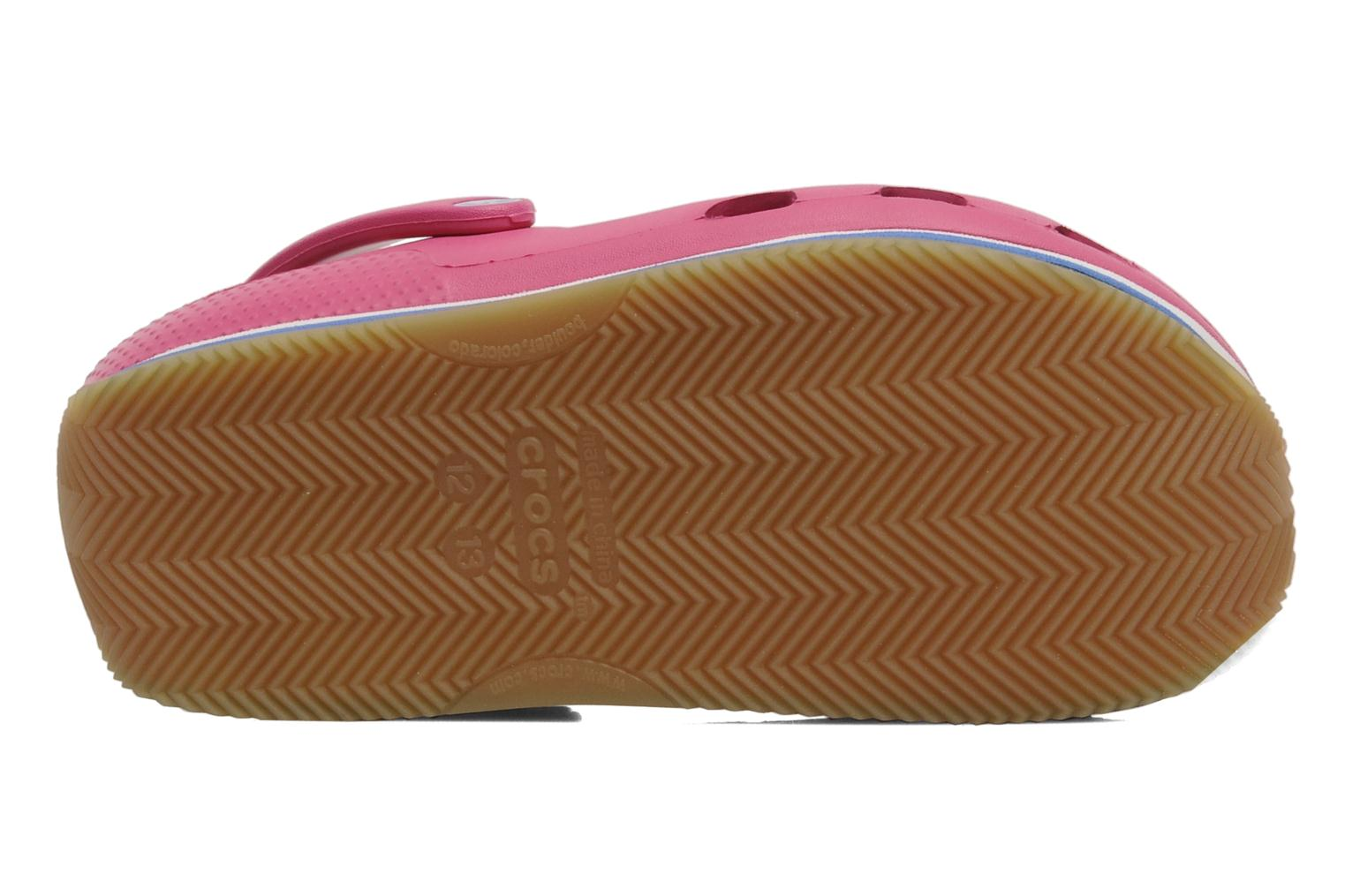 Cros Retro Clog Kids Fuchsia-Sea Blue