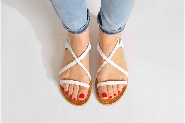 Sandalen Les Tropéziennes par M Belarbi Hanano silber ansicht von unten / tasche getragen