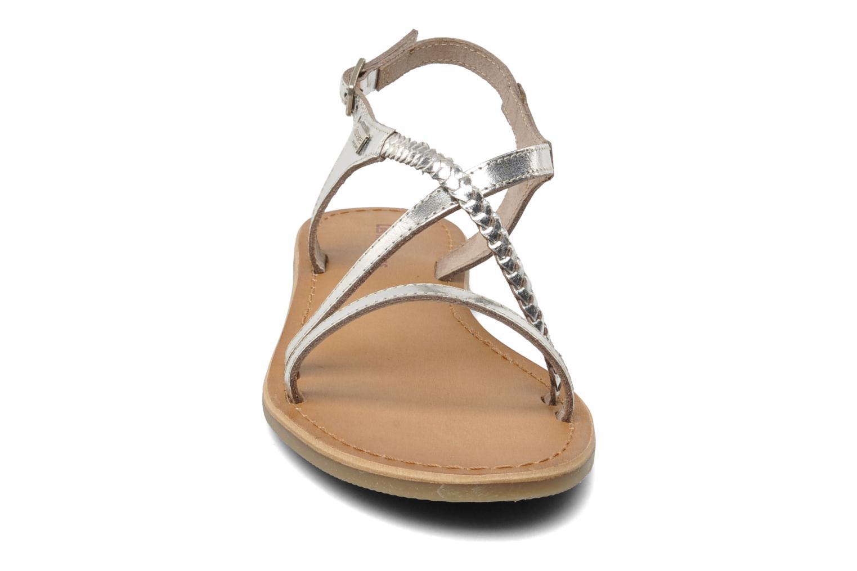 Sandalen Les Tropéziennes par M Belarbi Hanano silber schuhe getragen