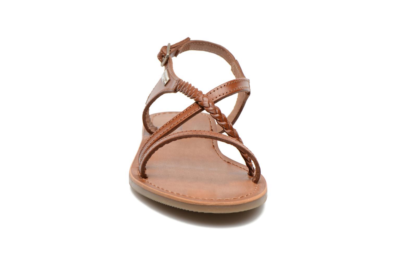 Sandales et nu-pieds Les Tropéziennes par M Belarbi Hanano Marron vue portées chaussures