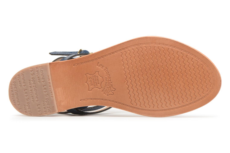 Sandales et nu-pieds Les Tropéziennes par M Belarbi Hilan Bleu vue haut