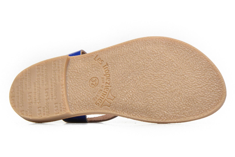 Sandales et nu-pieds Les Tropéziennes par M Belarbi Hiliona E Bleu vue haut