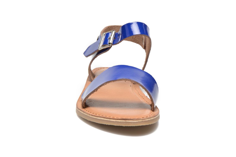 Sandales et nu-pieds Les Tropéziennes par M Belarbi Hiliona Bleu vue portées chaussures