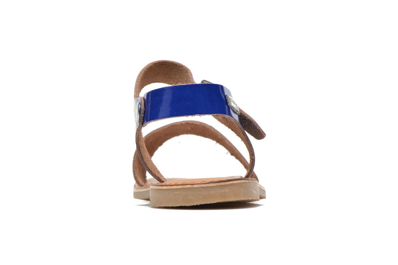 Sandales et nu-pieds Les Tropéziennes par M Belarbi Hiliona Bleu vue droite