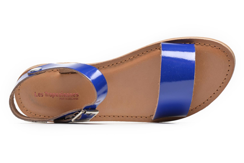 Sandales et nu-pieds Les Tropéziennes par M Belarbi Hiliona Bleu vue gauche