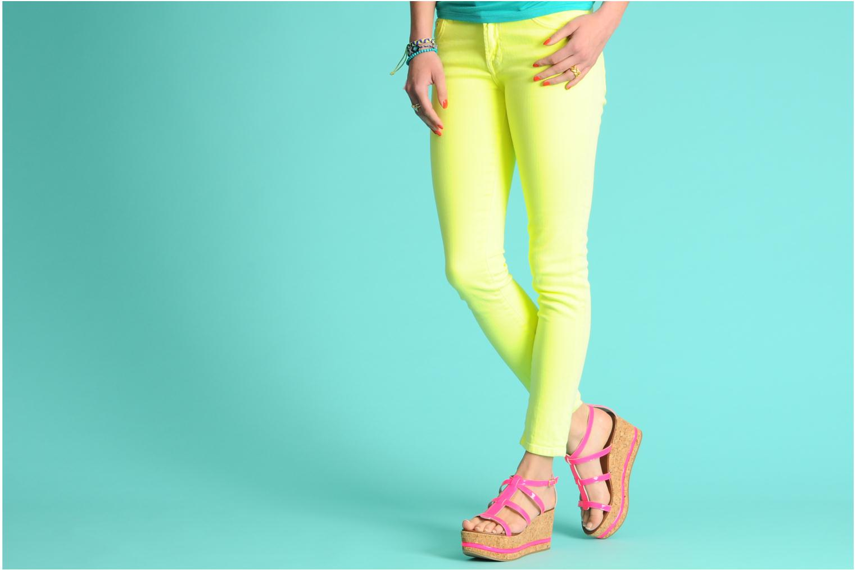 Sandales et nu-pieds Tapeet Tipia Rose vue bas / vue portée sac