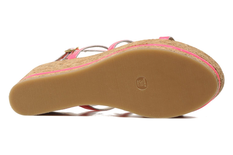 Sandales et nu-pieds Tapeet Tipia Rose vue haut