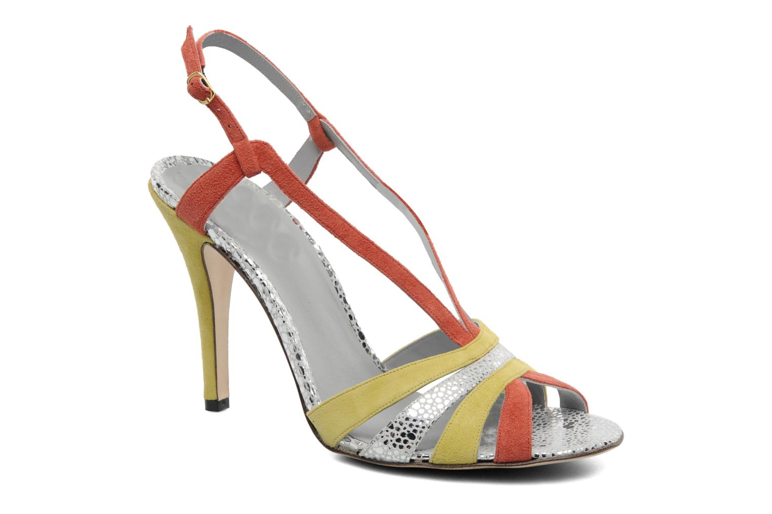 Marques Chaussure luxe femme Fred Marzo femme Josy Caviar Argent Velours Grenade Passion