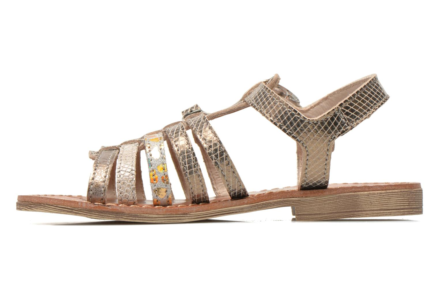 Sandals Ramdam by GBB Bangkok Bronze and Gold front view