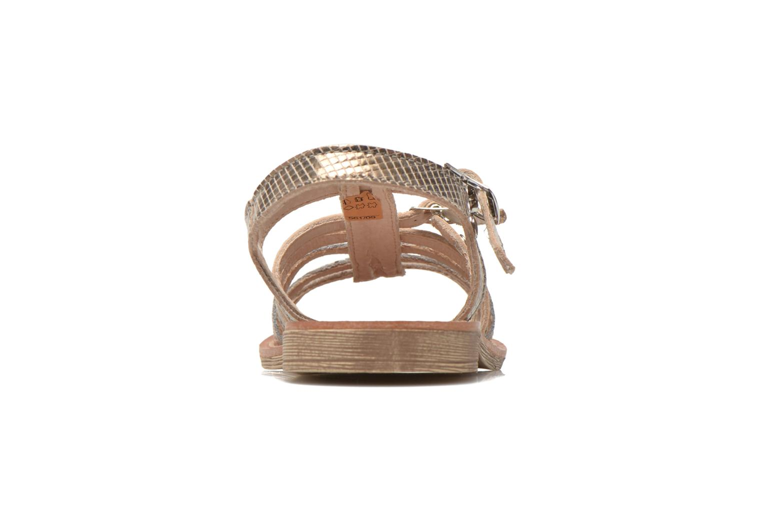 Sandals Ramdam by GBB Bangkok Bronze and Gold view from the right