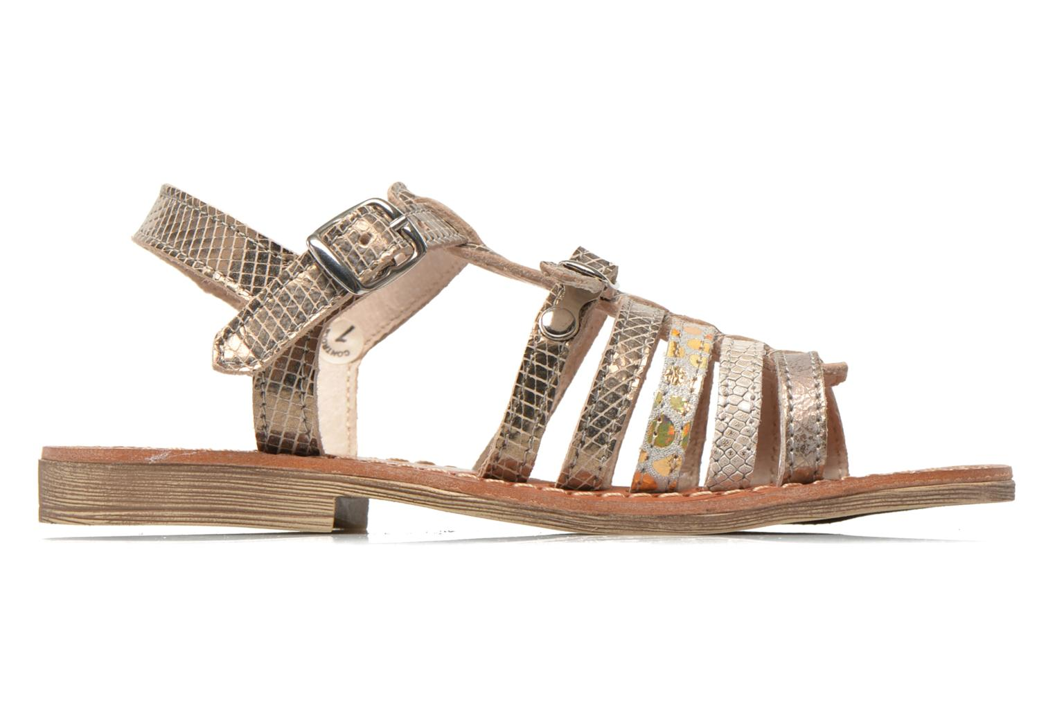 Sandals Ramdam by GBB Bangkok Bronze and Gold back view