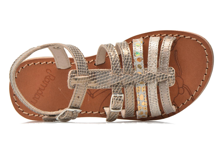 Sandales et nu-pieds Ramdam by GBB Bangkok Or et bronze vue gauche