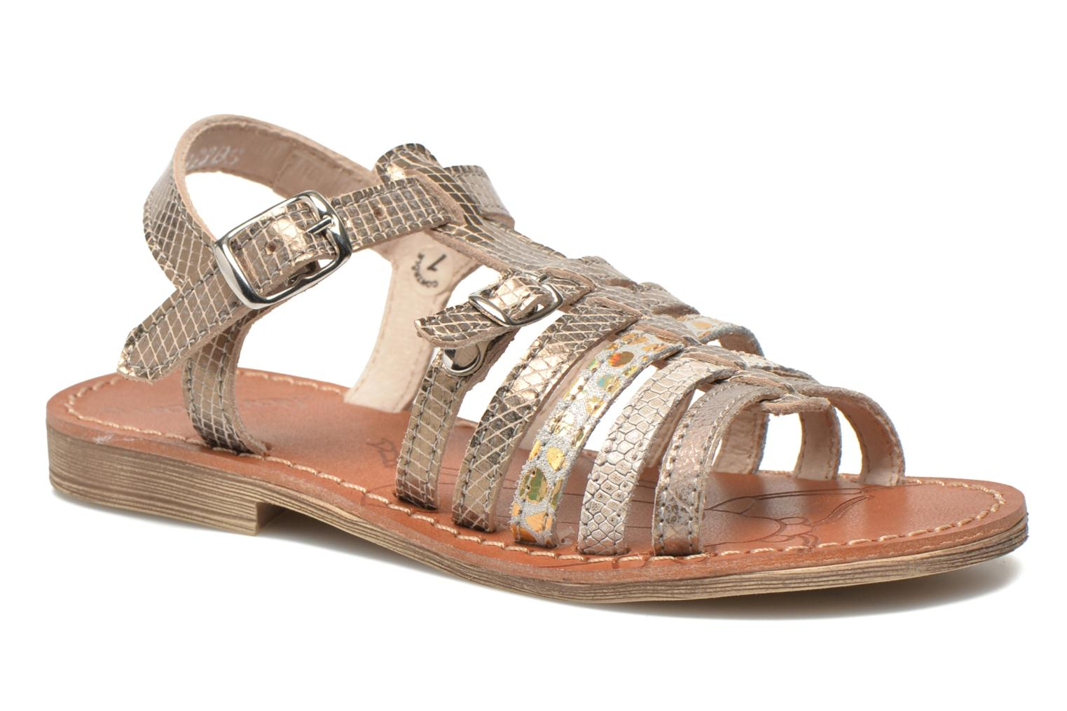 Sandals Ramdam by GBB Bangkok Bronze and Gold detailed view/ Pair view