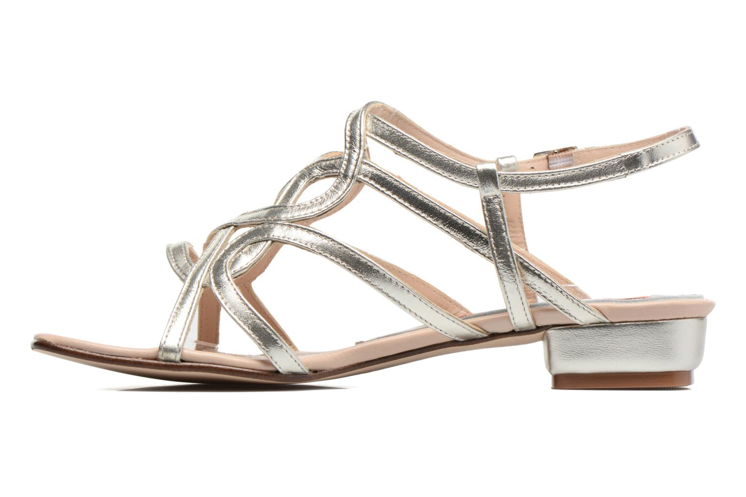 Sandals Anna Volodia Aplat Bronze and Gold front view