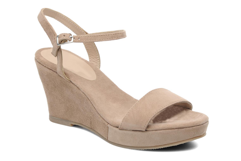 Elizabeth Stuart Nu pieds cuir velours Kaki - Chaussures Sandale Femme