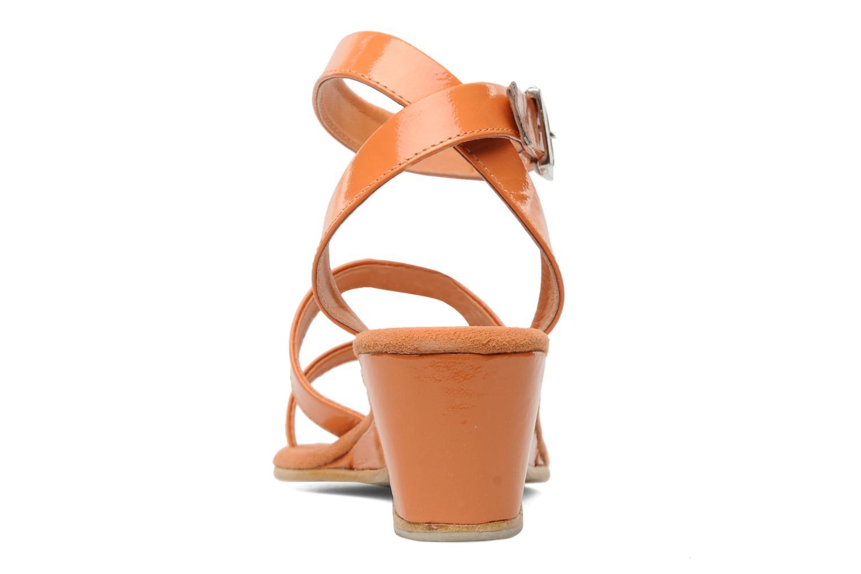 Sandales et nu-pieds Elizabeth Stuart Segur 658 Orange vue droite