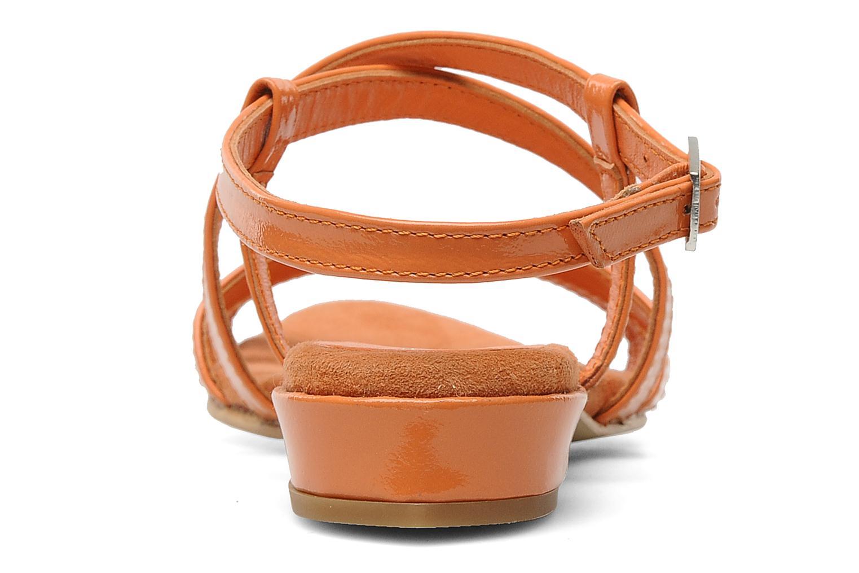Sandales et nu-pieds Elizabeth Stuart Abrey 658 Orange vue droite