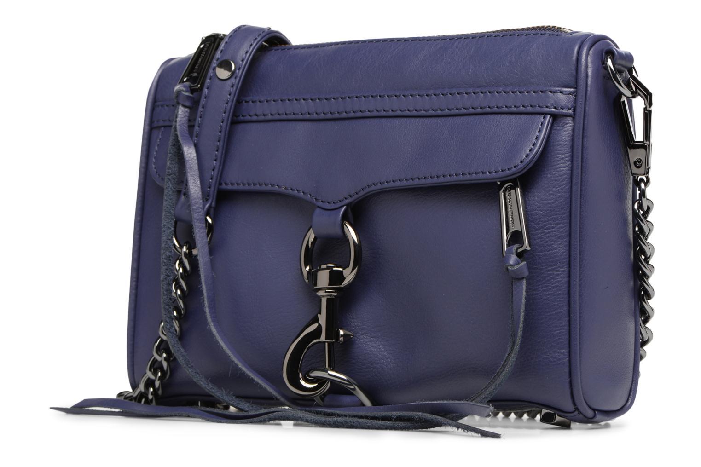 Borse Rebecca Minkoff Mini MAC Azzurro modello indossato
