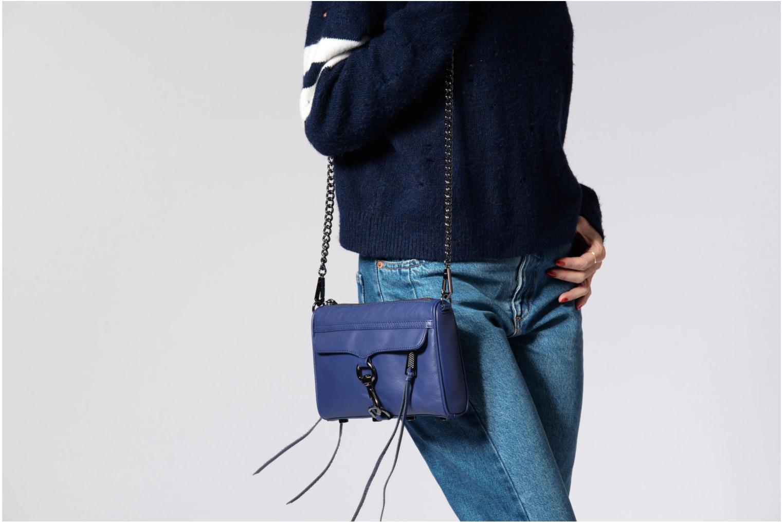 Håndtasker Rebecca Minkoff Mini MAC Blå se foroven