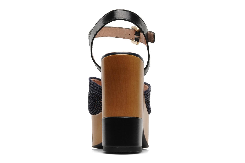 Dress paille marine V lisse Noir dbl