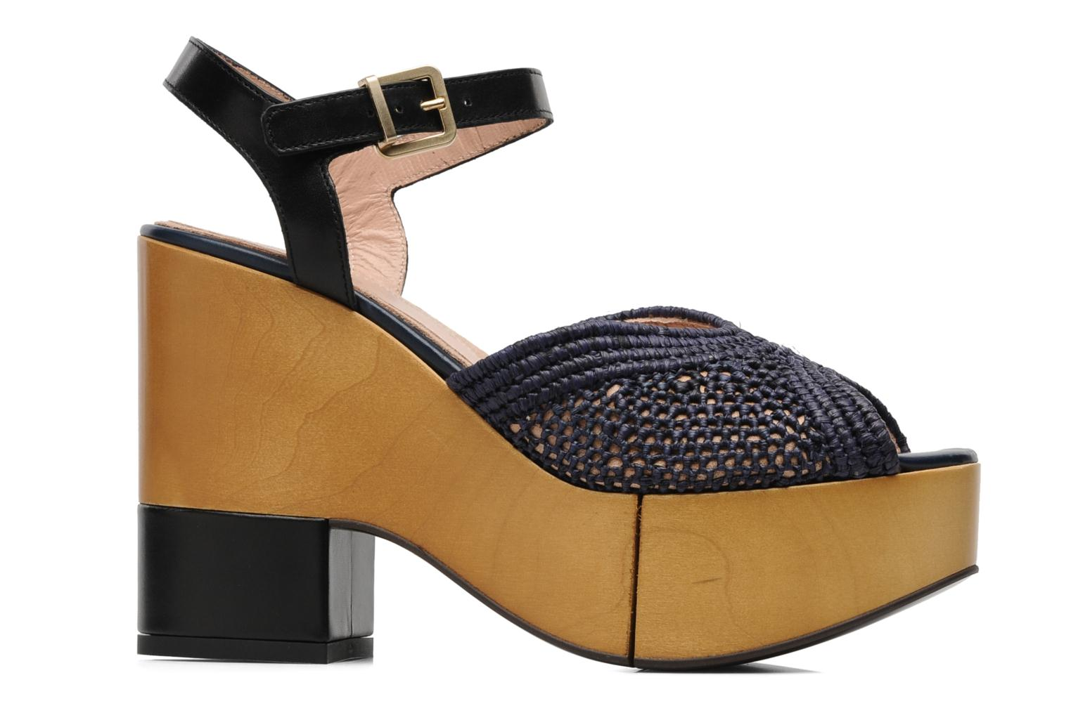 Sandals Clergerie Dress Blue back view