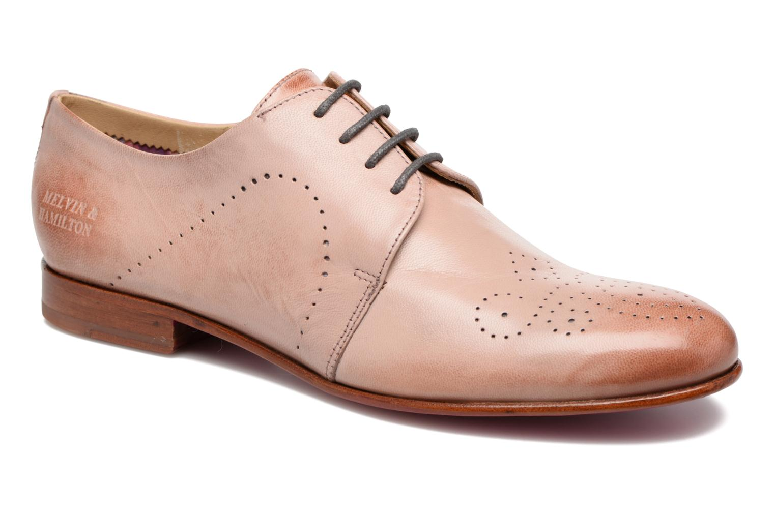 Lace-up shoes Melvin & Hamilton Sally 1 Brown detailed view/ Pair view