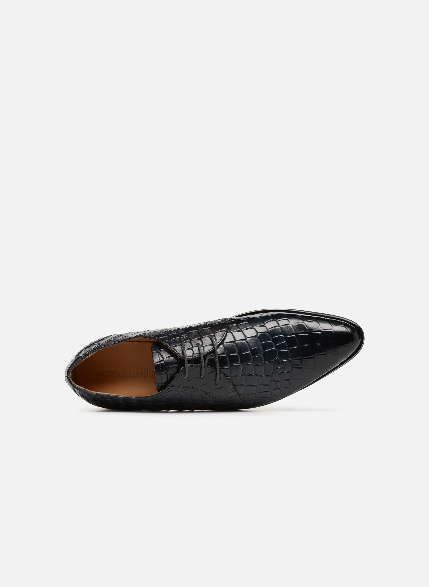 Zapatos con cordones Melvin & Hamilton Toni 1 Azul vista lateral izquierda