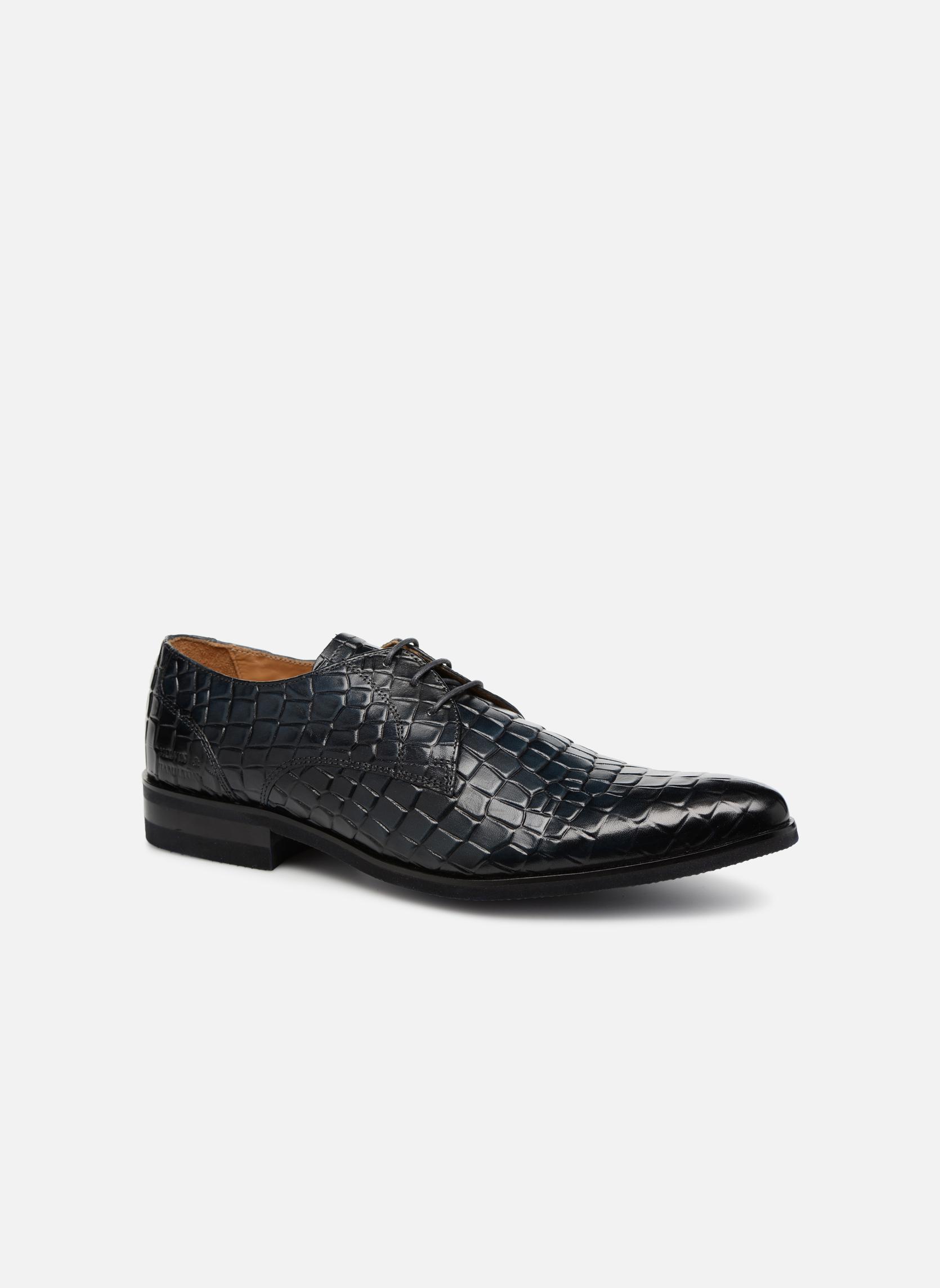 Snøresko Melvin & Hamilton Toni 1 Blå detaljeret billede af skoene