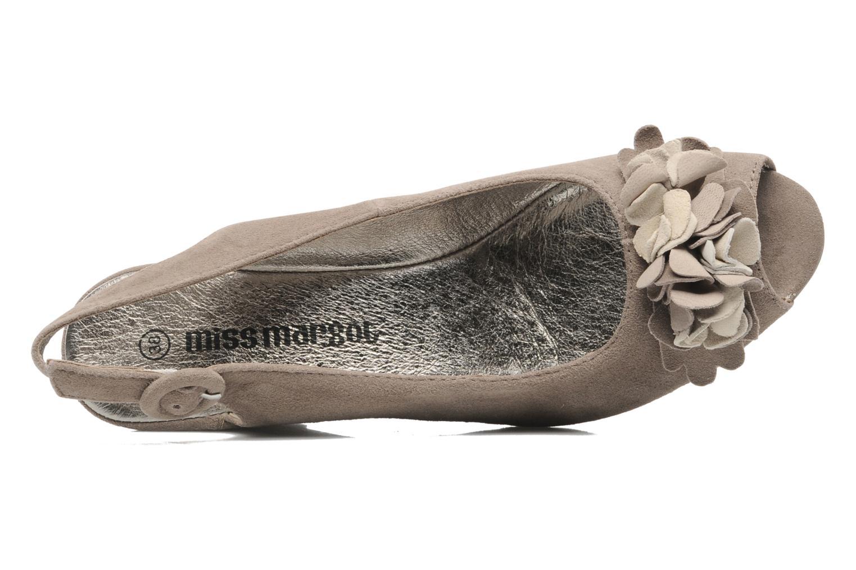 Sandalen Rosemetal Rony braun ansicht von links