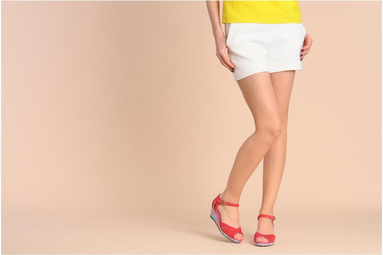Sandales et nu-pieds Annabel Winship Loukoum Rouge vue bas / vue portée sac