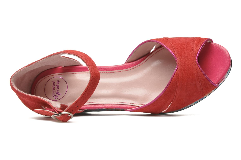Sandales et nu-pieds Annabel Winship Loukoum Rouge vue gauche